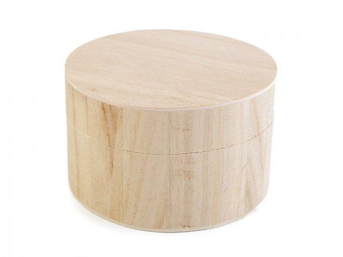 Dřevěná kulatá krabička