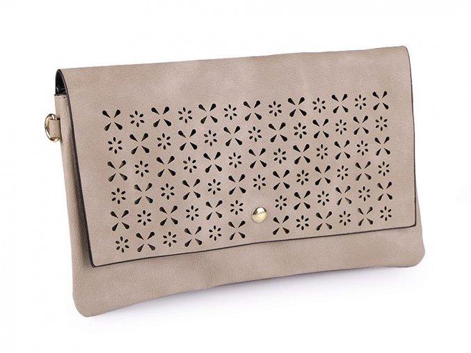 Béžová kabelka s vysekávaným vzorem