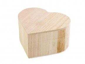 Dřevěná krabička srdíčko