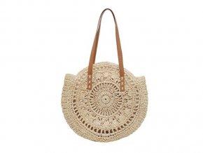 Kulatá slaměná taška