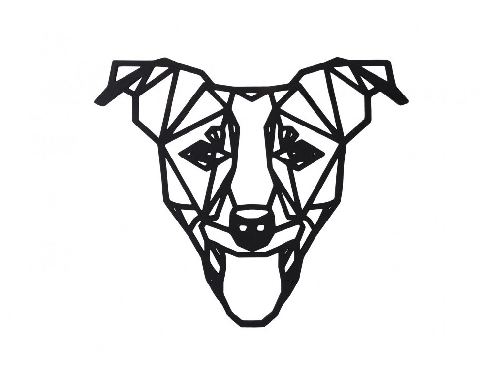 dreveny geometricky obraz jack russel terier 1000x665
