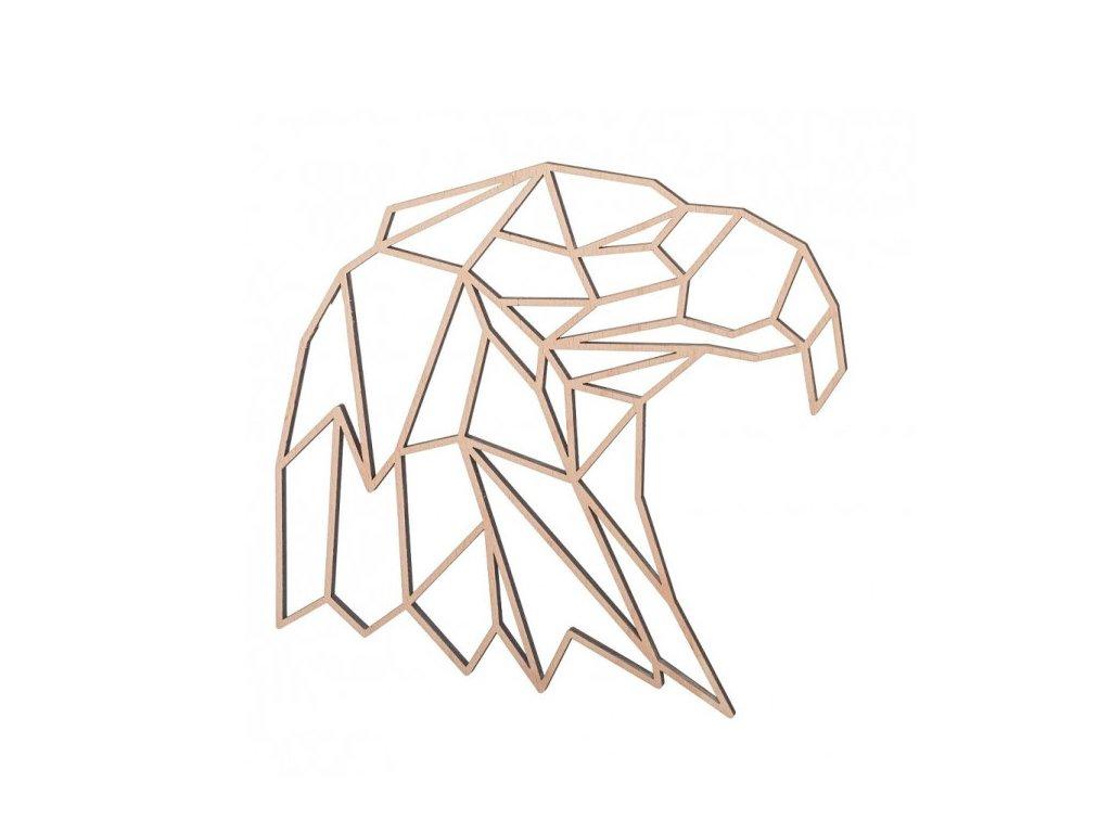 dreveny geometricky obraz orel 1000x665