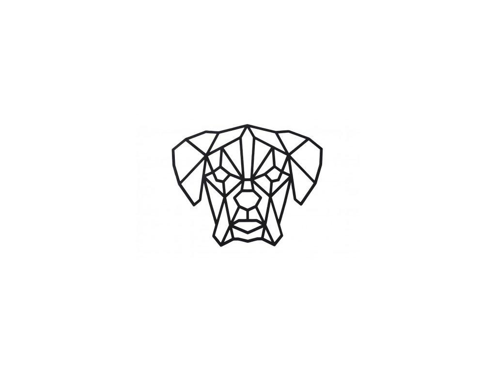 dreveny geometricky obraz nemecky boxer 462x388