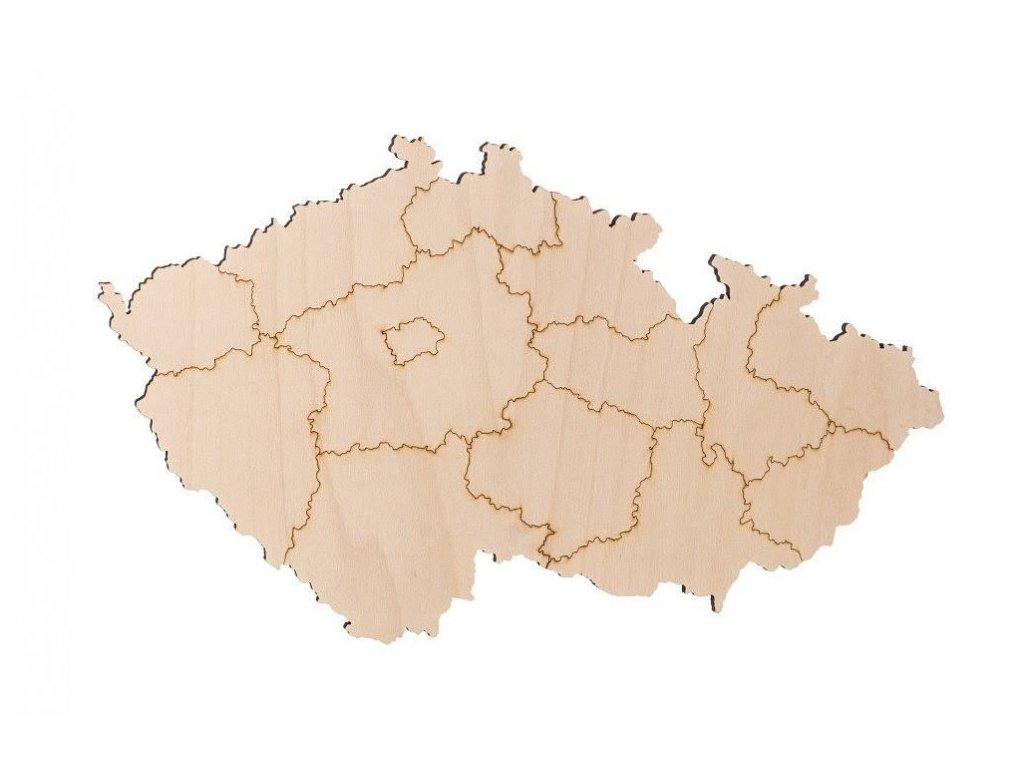 drevene mapa ceske republiky 1000x665