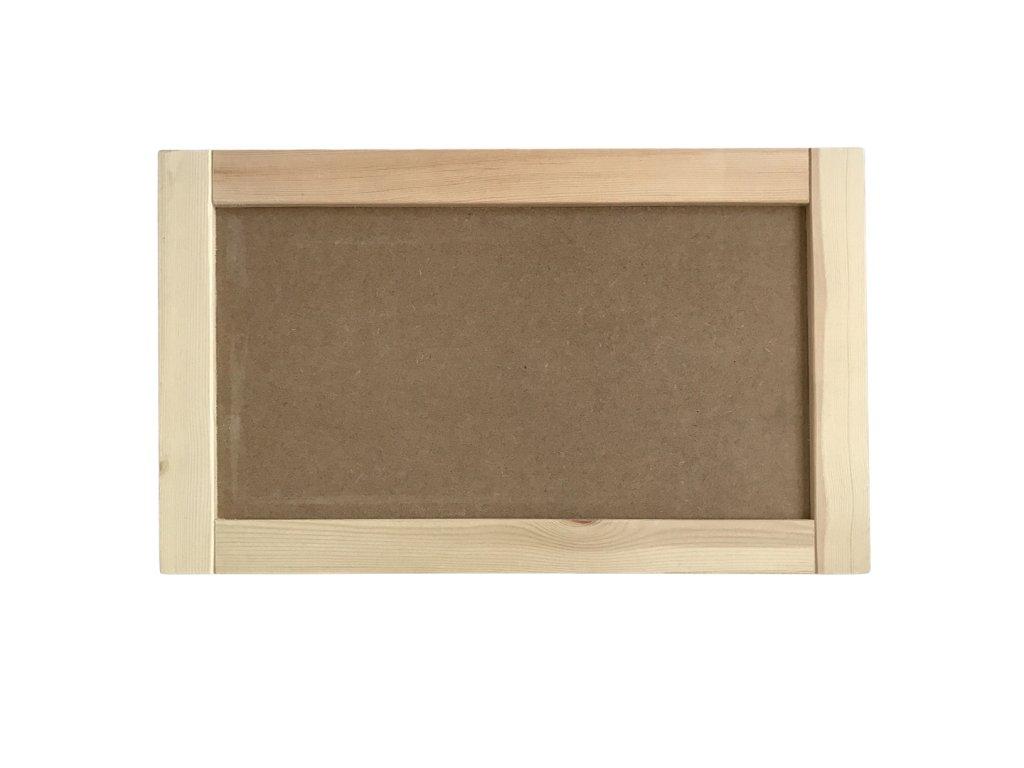 Dřevěný rám na mechový obraz 56x34 cm