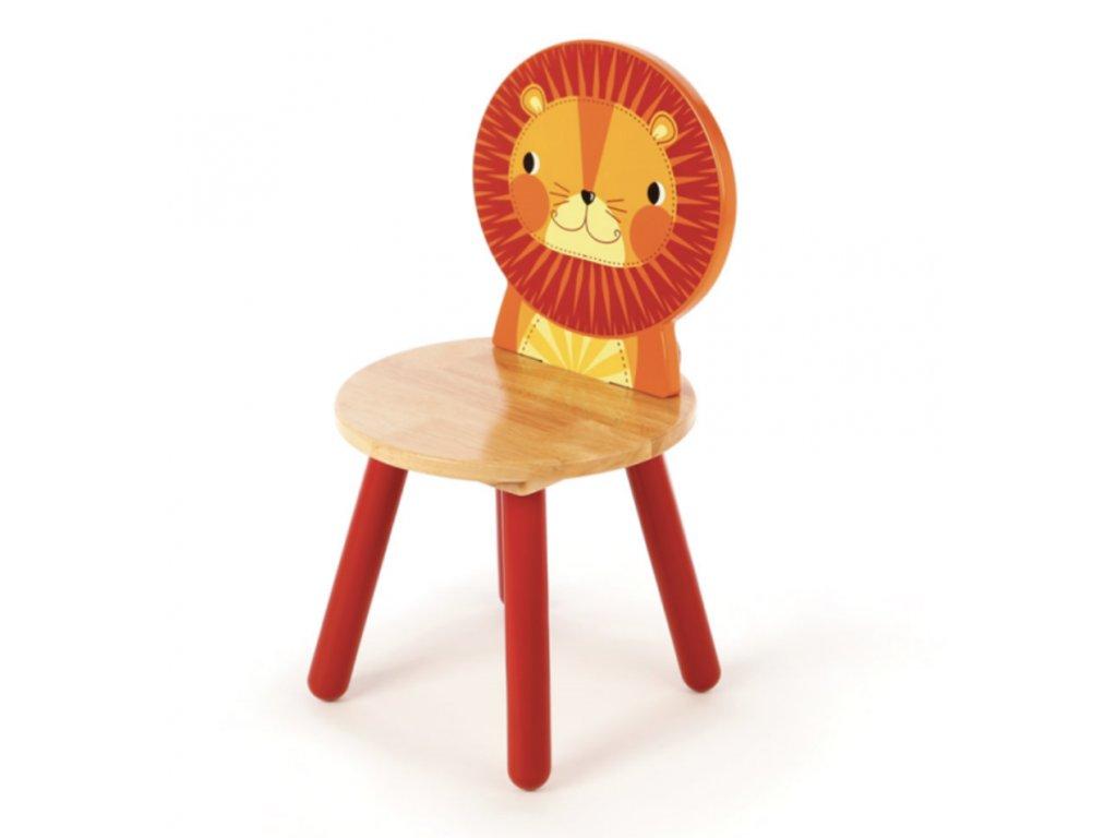 Dřevěná židle Animal lev