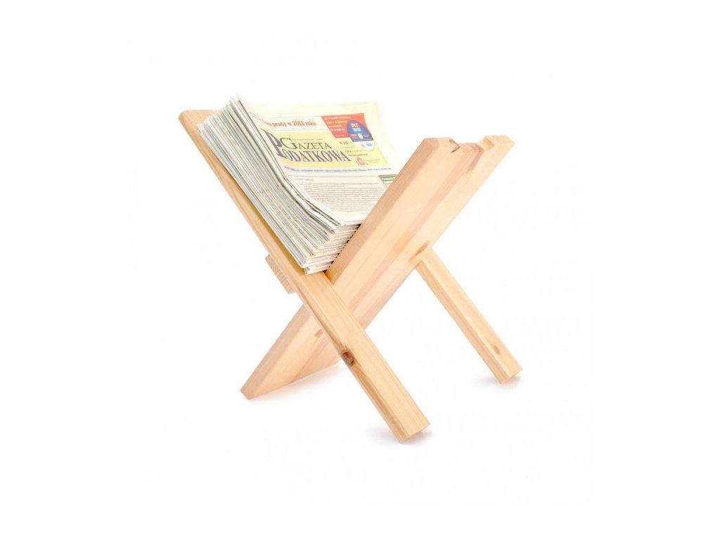 Stojan na noviny dřevěný