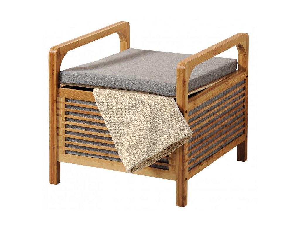 Polstrovaný bambusový stolekPolstrovaný bambusový stolek