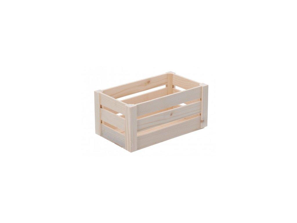 Malá dřevěná bedýnka