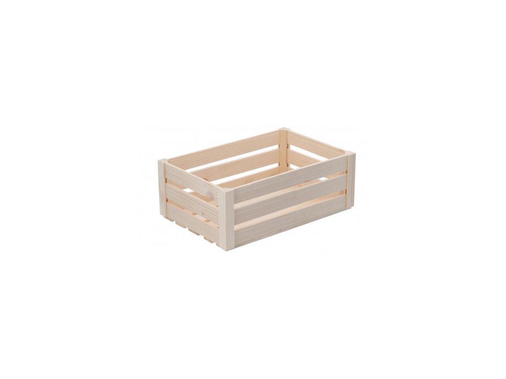 Velká dřevěná bedýnka z borovice