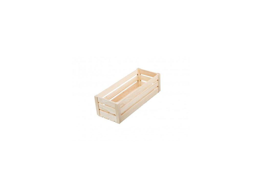 Dřevěná bedýnka z přírodní borovice - maxi