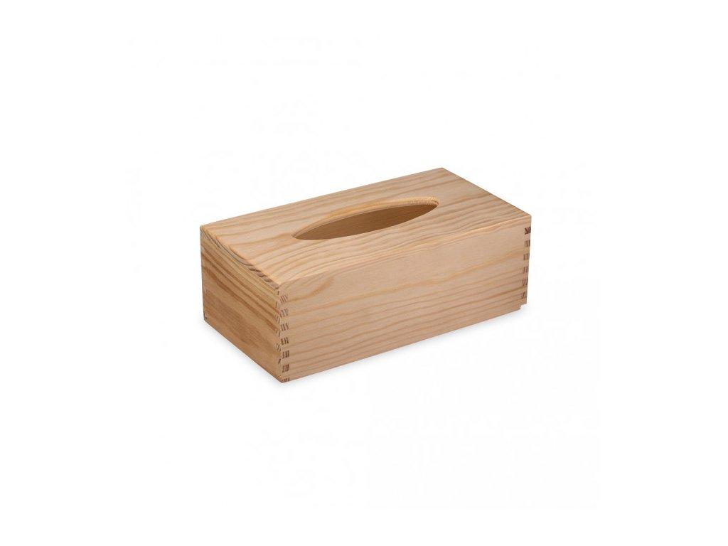 Krabička na kapesníky dřevěná