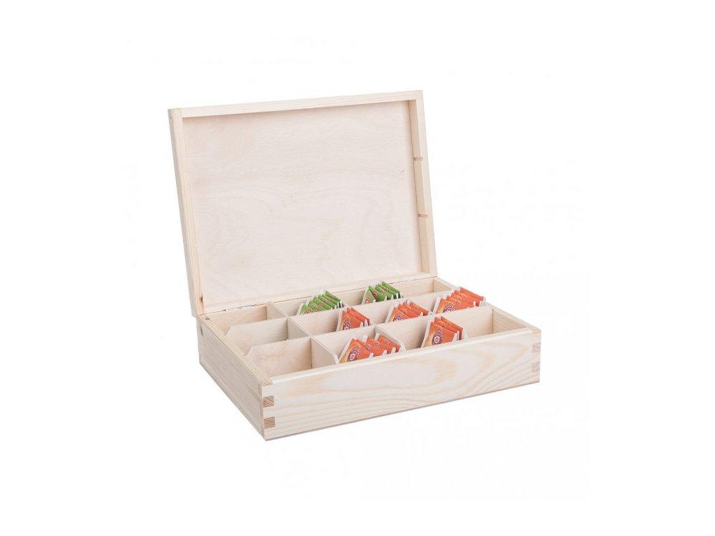drevena krabicka na caj 12 prihradek 1000x665
