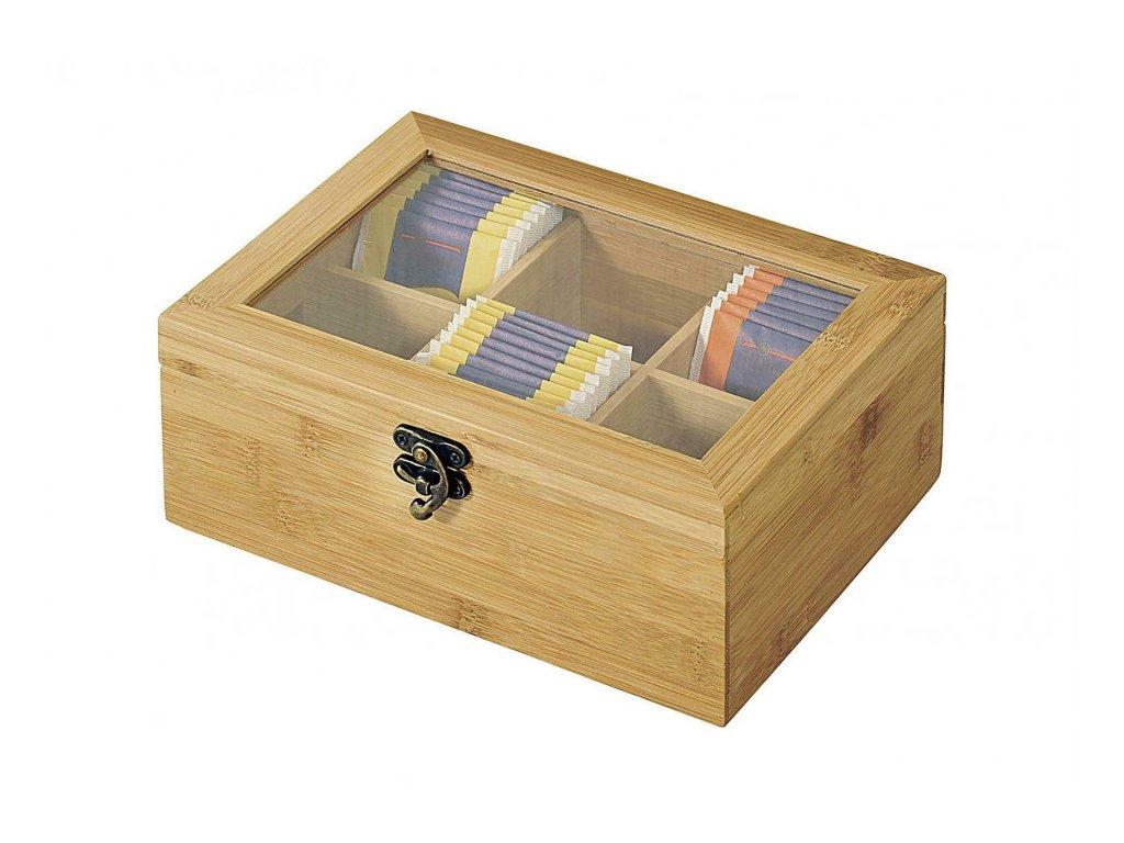 Bambusová krabička na čaj