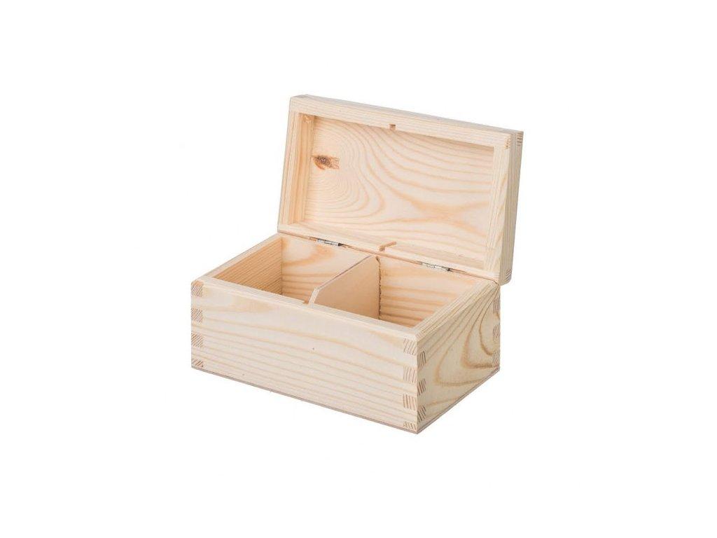 Krabička dřevěná na čaj