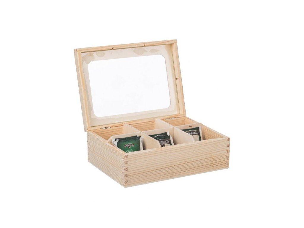 Dřevěná krabička s plexisklem