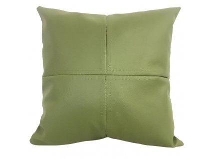 Khaki polštář z eko kůže