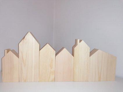 sada dřevěných domečků - přírodní borovice