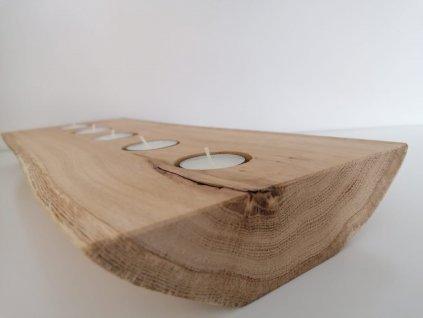 Svícen dub na 5 svíček - detail
