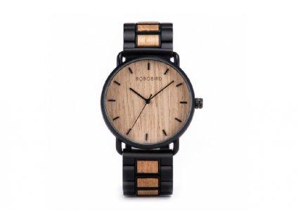 Světlé dřevěné hodinky bobo bird