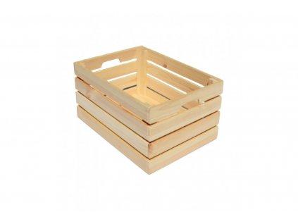 Dřevěná bedýnka z borovicového dřeva