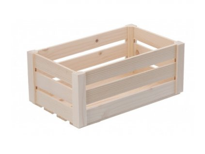 Střední dřevěná bedýnka z borovicového dřeva