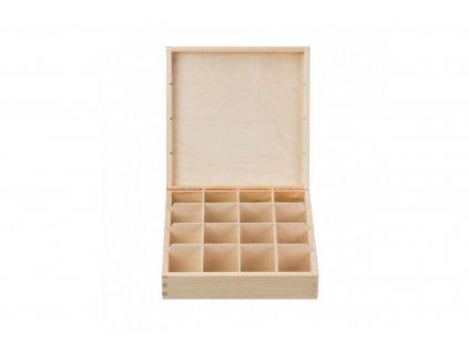 Dřevěná krabička na čaj