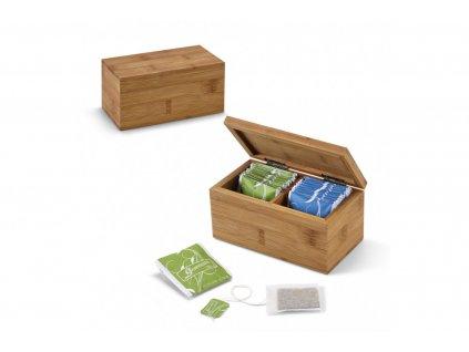 Bambusová krabička s azorským čajem