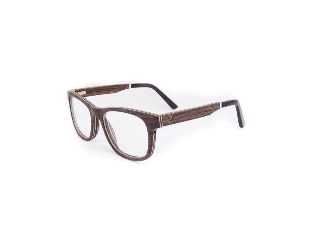 Brýle dioptrické černý dub