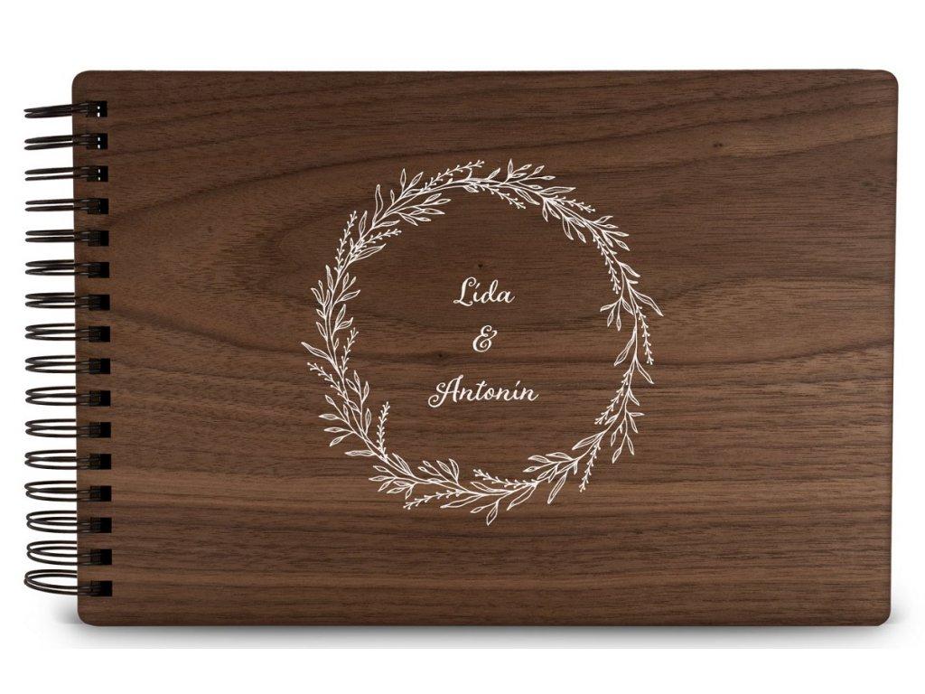 Dřevěné fotoalbum MOTIV