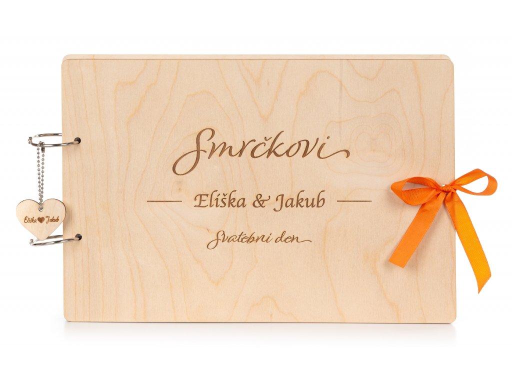 Dřevěná svatební kniha PŘIJMENÍ