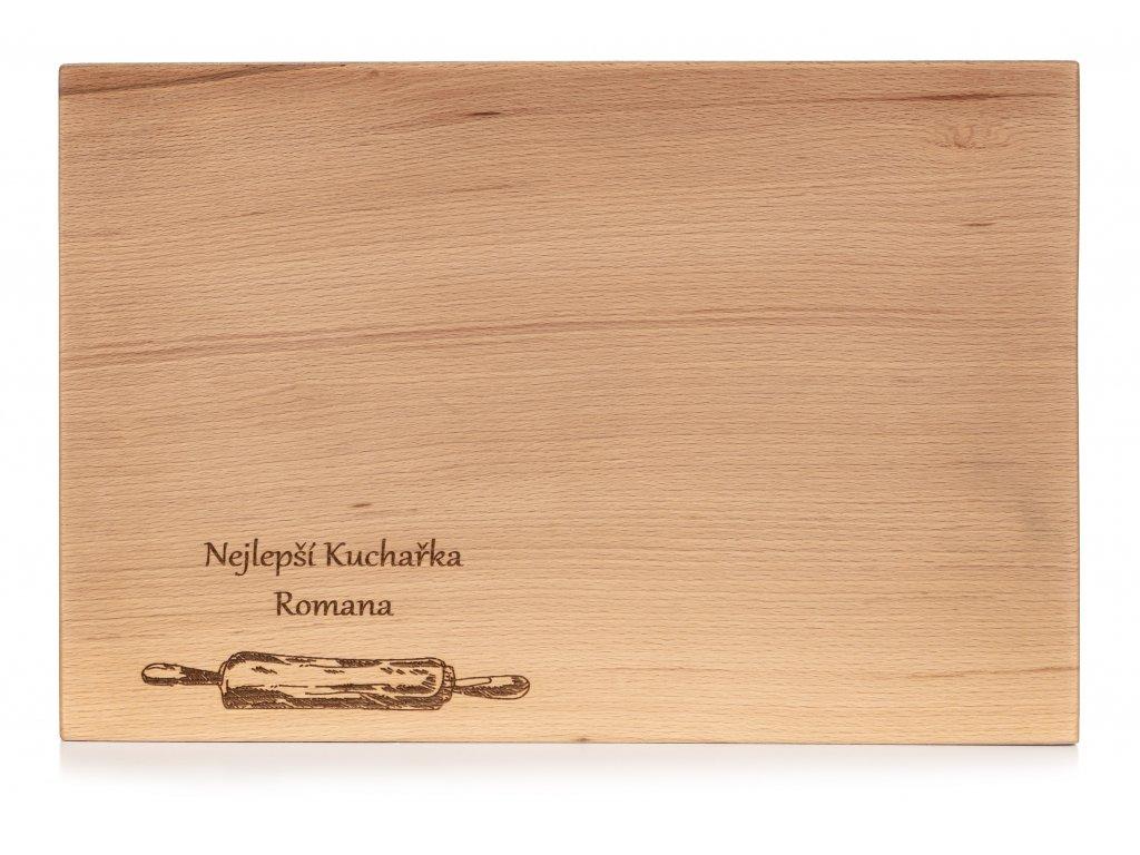 Dřevěné kuchyňské prkénko VÁLEČEK