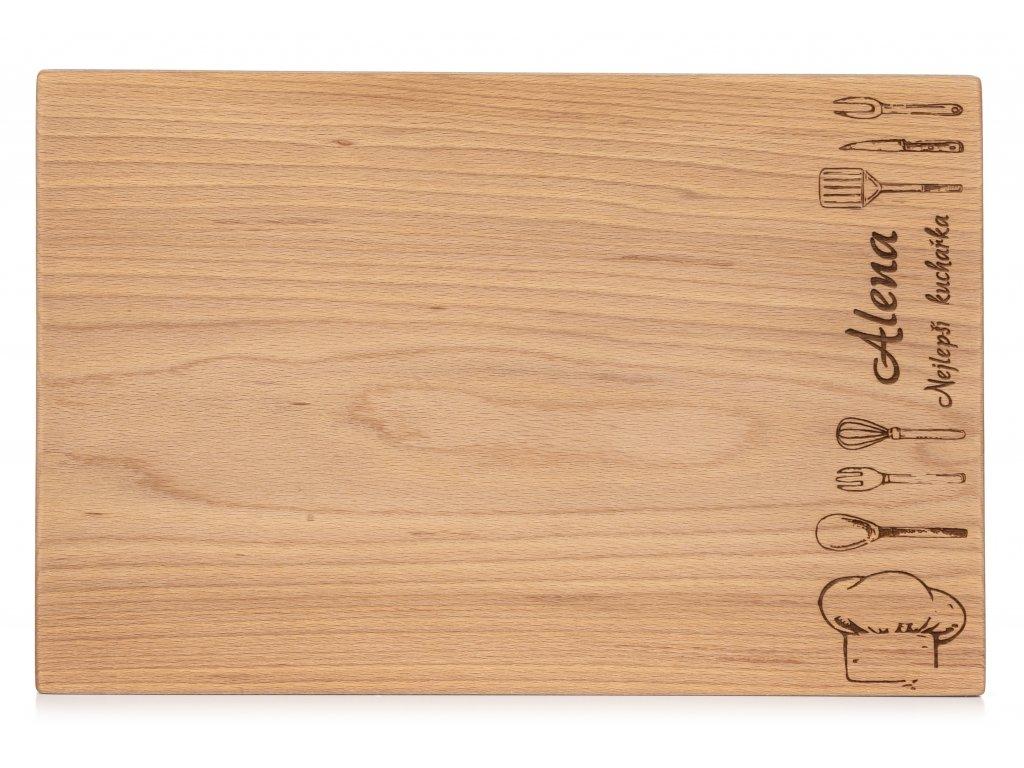 Dřevěné kuchyňské prkénko Kuchař