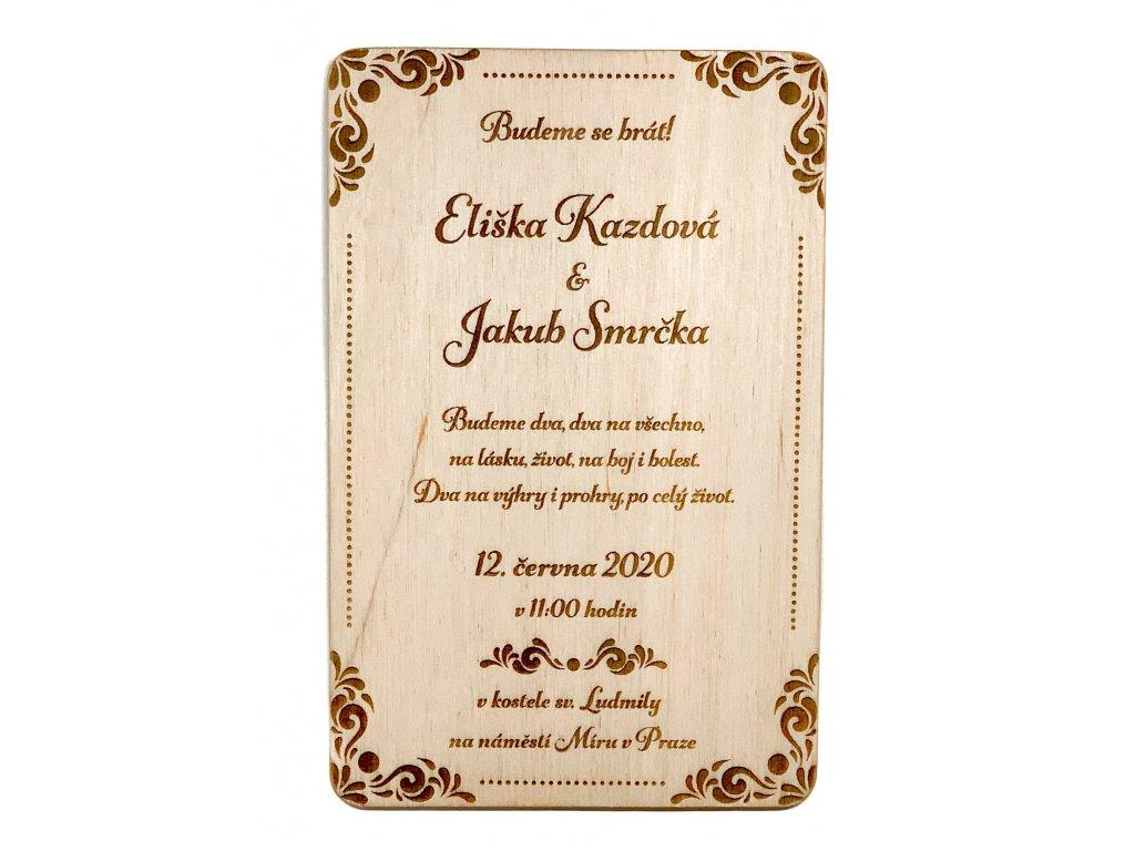 Svatební oznámení dot