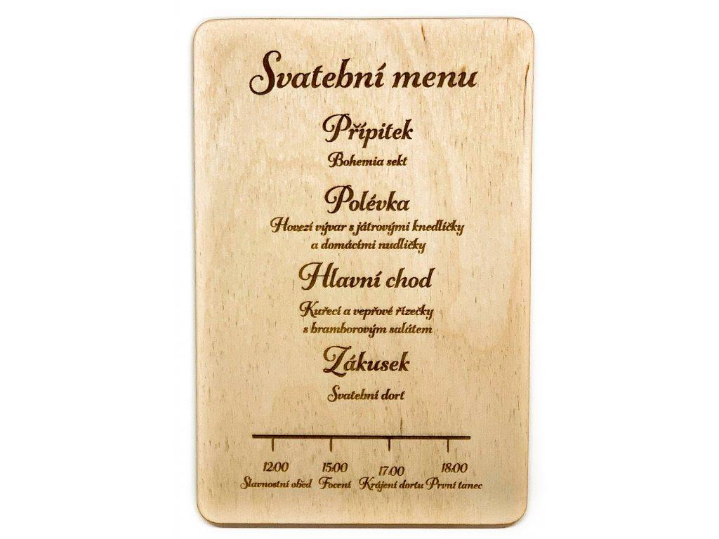 Timeline menu