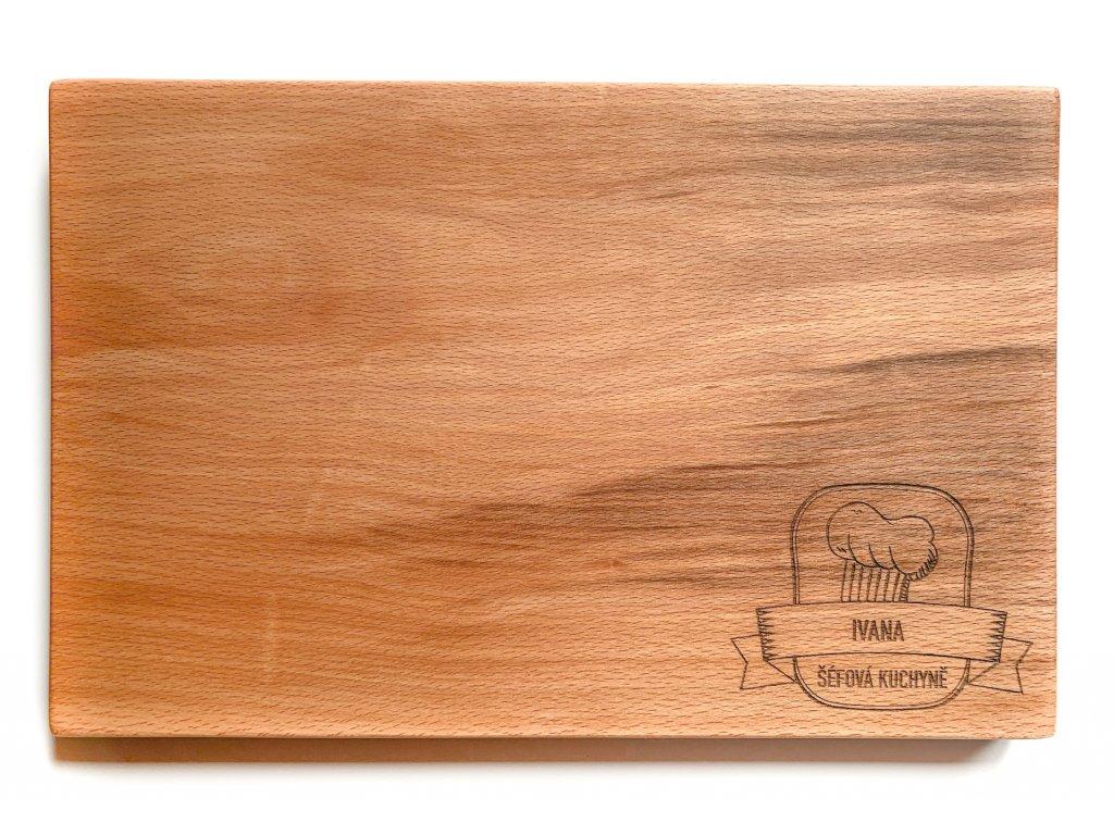 Dřevěné prkénko s věnováním KUCHAŘ