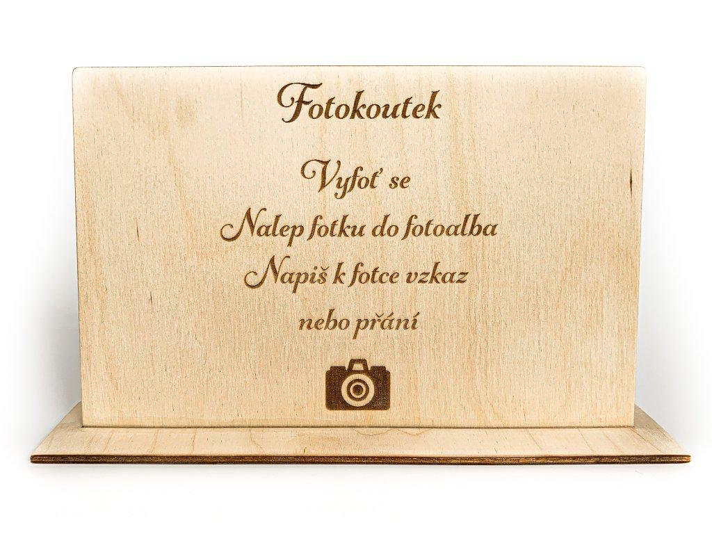 Dřevěná informativní cedule fotokoutek