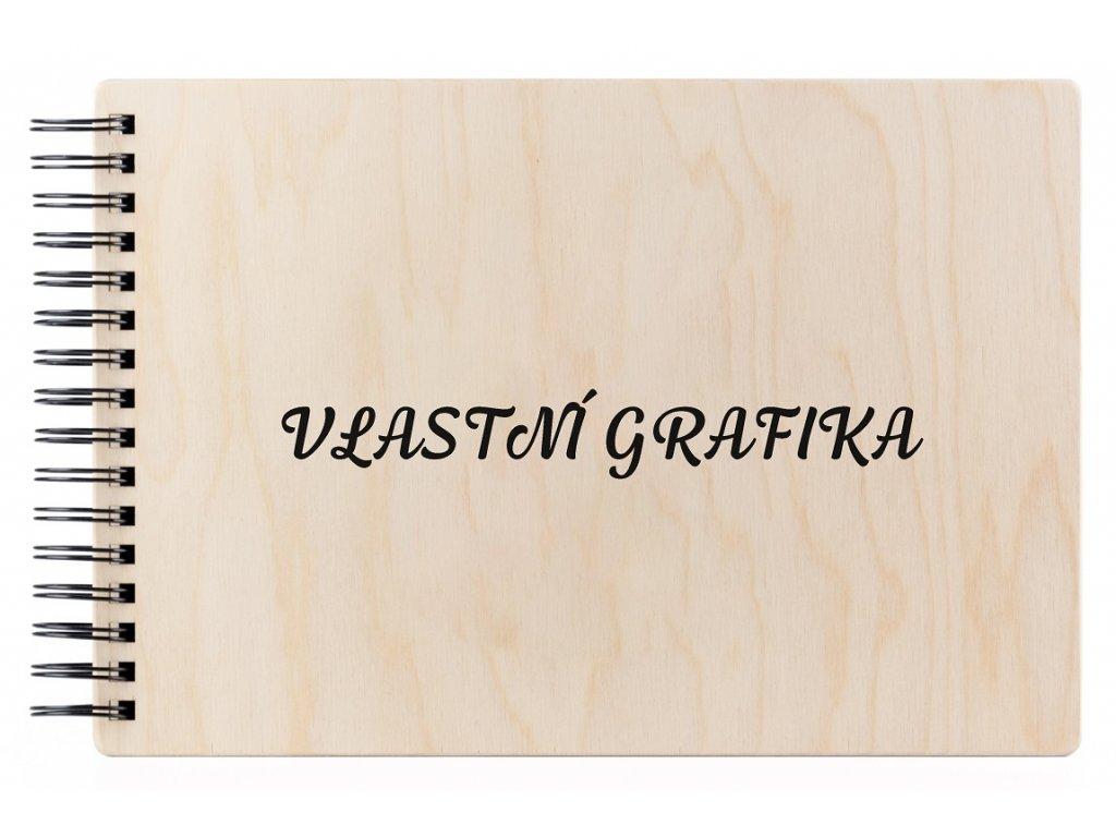 Dřevěné fotoalbum VLASTNÍ GRAFIKA NATURE 1