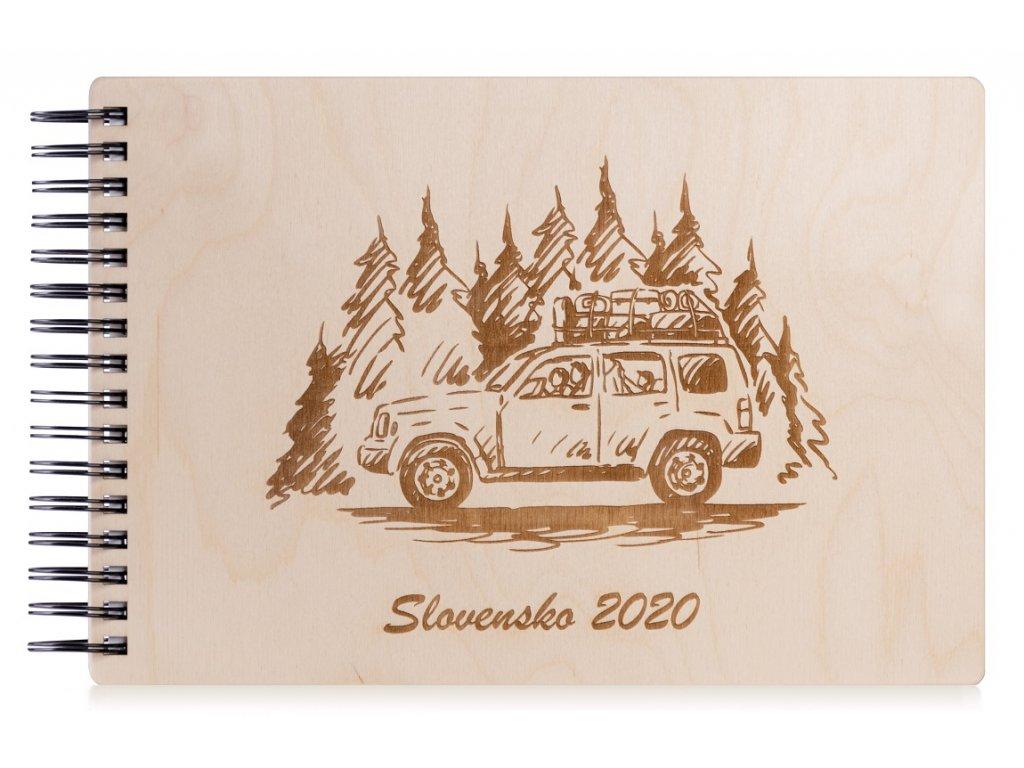 Dřevěné fotoalbum AUTO cestovatel