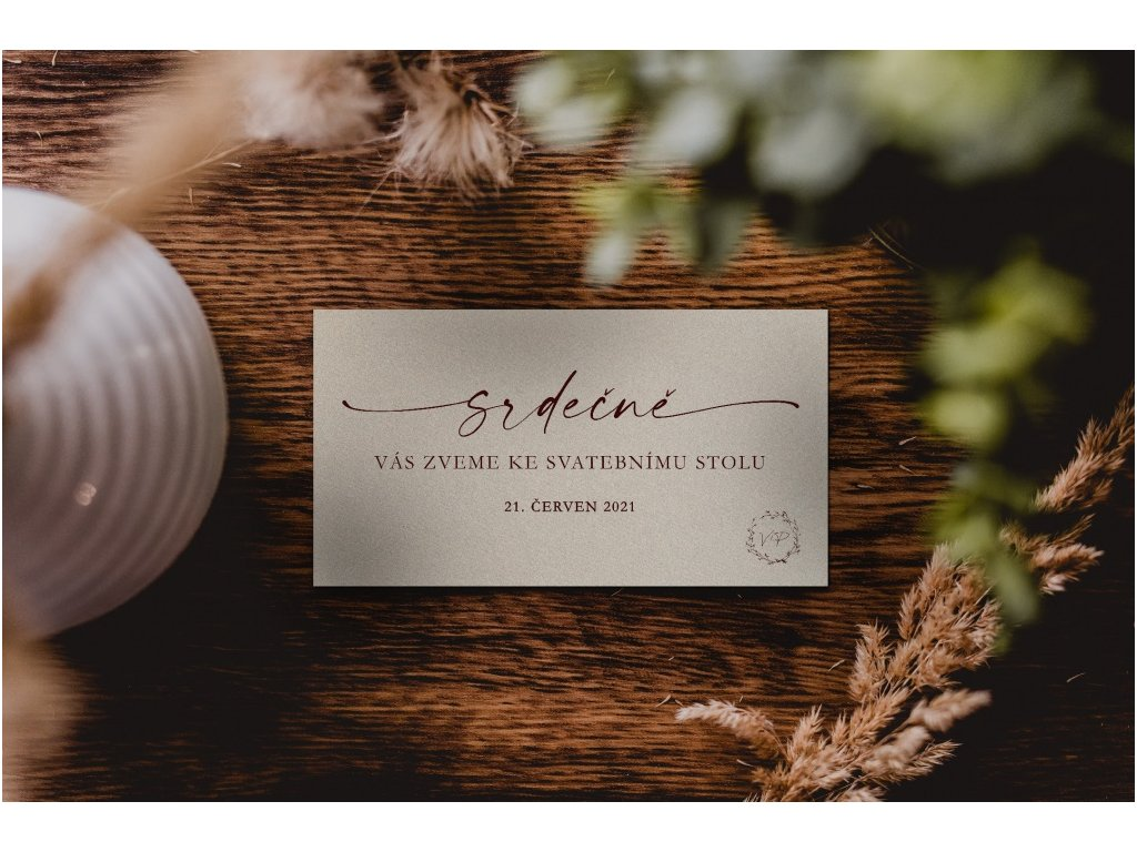 Pozvánka ke svatební tabuli