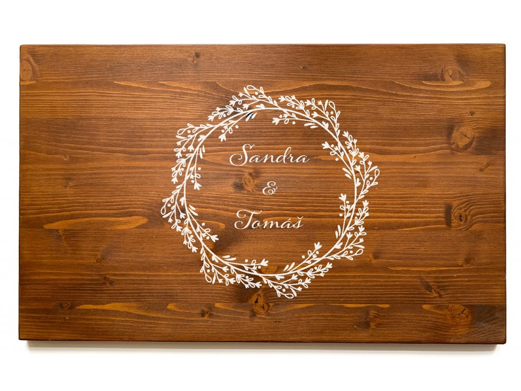 Dřevěná cedule na podpisy BOHO palisandr