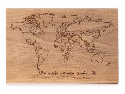 Dřevěné kuchyňské prkénko CESTOVATEL
