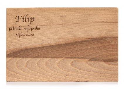 Dřevěné kuchyňské prkénko Jméno