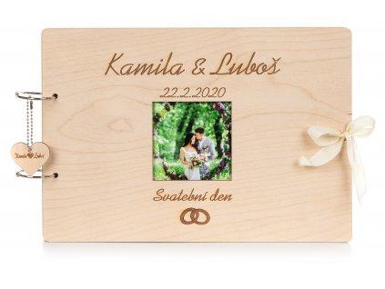 Dřevěné svatební album FOTO