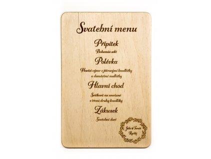 Svatební menu BOHO