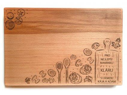 Dřevěné prkénko KUCHYNĚ