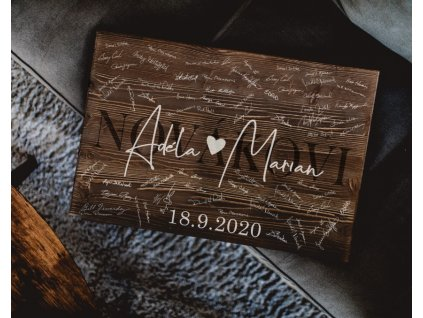 Dřevěný obraz na podpisy #modern