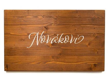 Dřevěná cedule na podpisy PŘÍJMENÍ palisandr