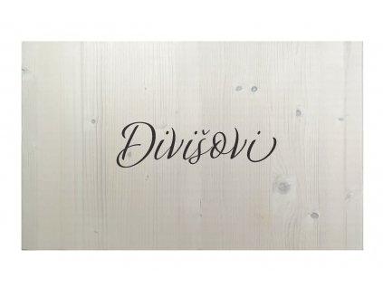 Dřevěná cedule na podpisy PŘÍJMENÍ wh