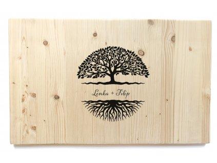 Dřevěná cedule na podpisy STROM příordní